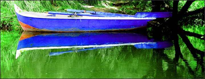 Blue boat for Beth Green Biography